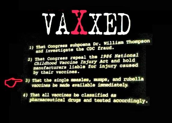 single vaccine agenda screen shot