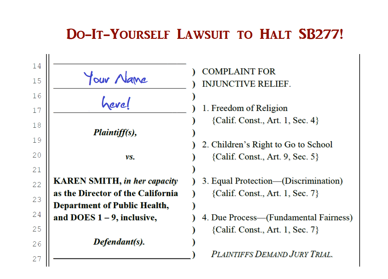 DoItYourself Lawsuit To Halt SB Californias Mandatory - Do it yourself will template