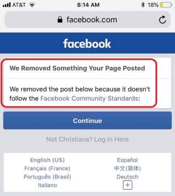 facebook remove chris EDIT