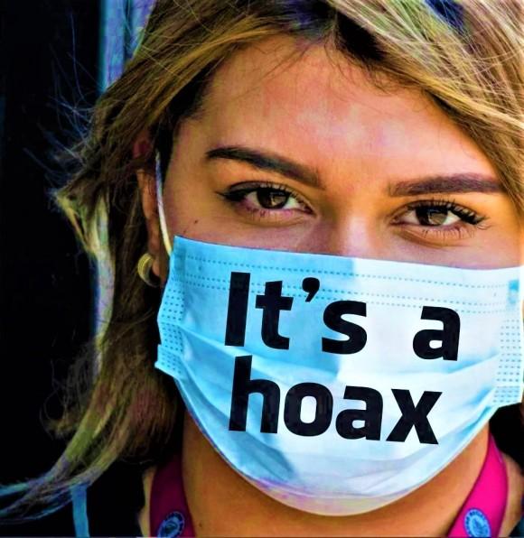 corona hoax mask