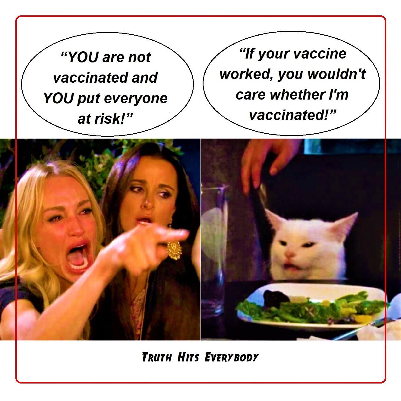 CAT MEME unvaxxed